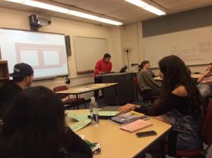 Aula de la asignatura de historia de la educación en La Universidad de Pace.